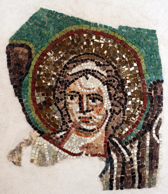 Testa d'angelo, frammento di mosaico dalla volta di san vitale, VI secolo ca - Sailko - Ravenna (RA)
