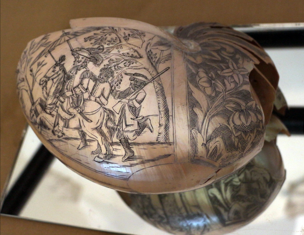 Fiandre o germania, conchiglia di nautilus, xvii secolo 01 - Sailko - Ravenna (RA)