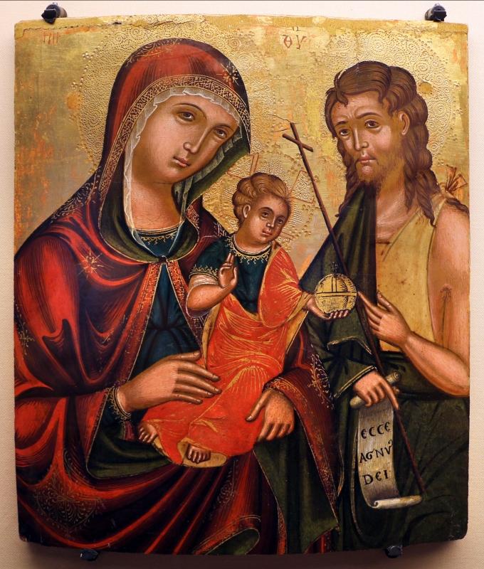 Pittore cretese, madre della consolazione e s. giovanni battista, xvii secolo - Sailko - Ravenna (RA)