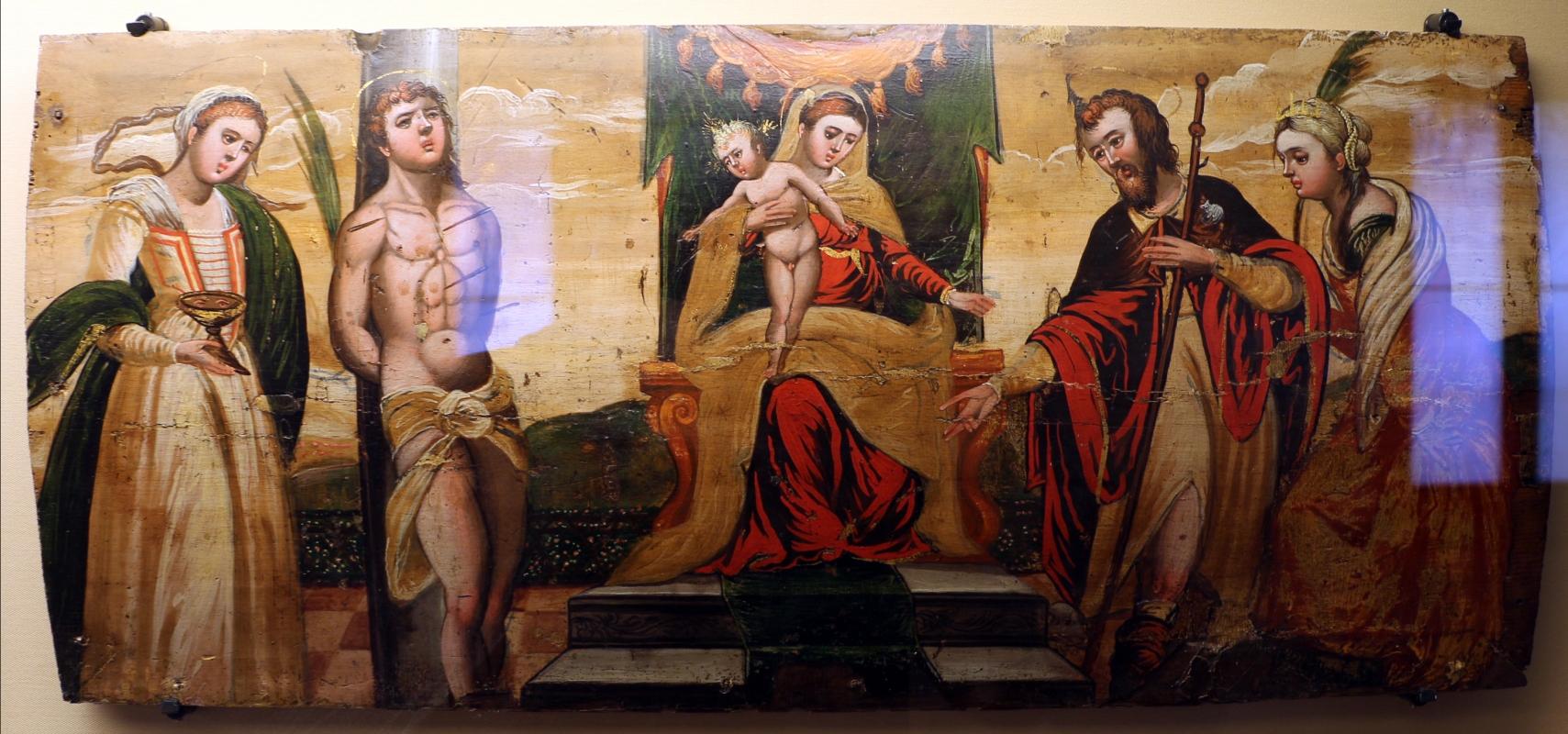 Scuola cretese, madonna in trono tra santi, 1610 ca - Sailko - Ravenna (RA)