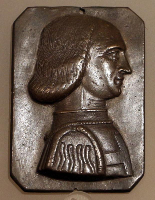 Italia del nord, busto di personaggio con veste da crociato, 1425-50 ca - Sailko - Ravenna (RA)