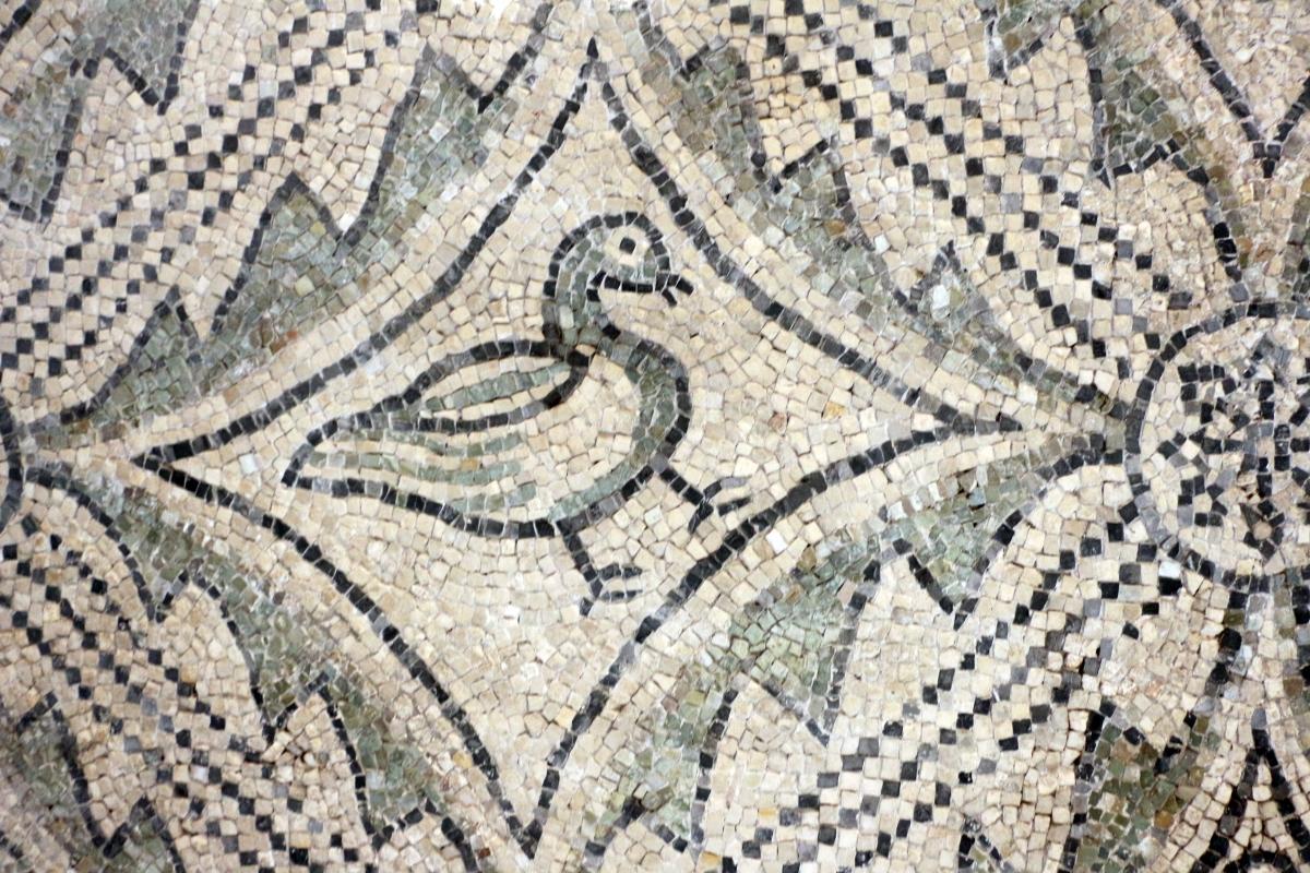 Mosaici pavimentali da san severo a classe, 590 dc ca. 09 uccello - Sailko - Ravenna (RA)