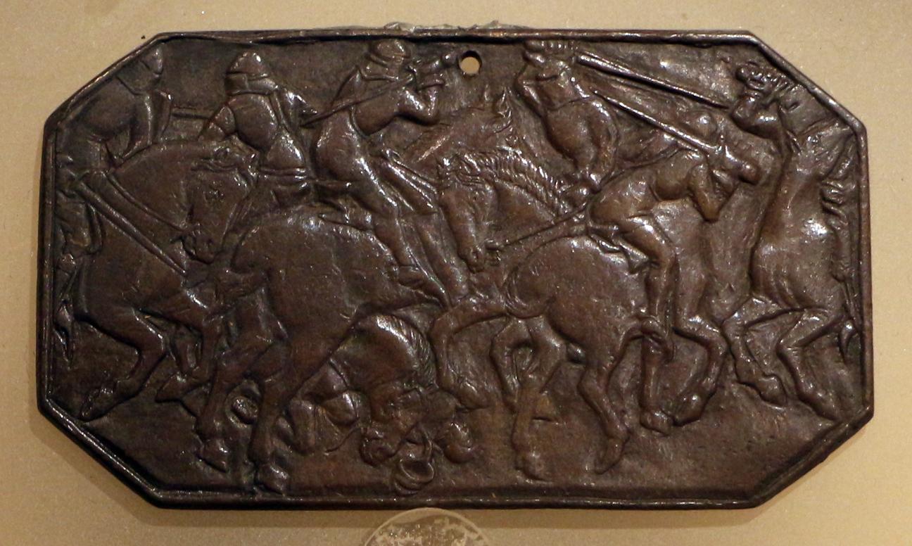 Italia del nord, combattimento di cavalieri, 1415-50 ca - Sailko - Ravenna (RA)