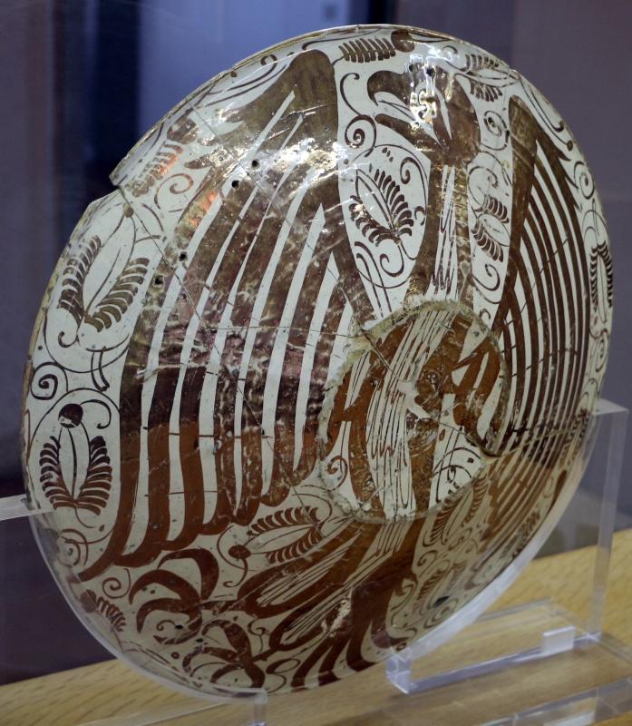 Manises, piatto in maiolica lustrata, 1450-1500 ca. 02 retro - Sailko - Ravenna (RA)