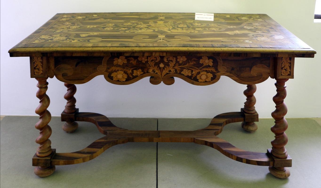 Italia del nord, tavolo con intarsi, xviii secolo - Sailko - Ravenna (RA)