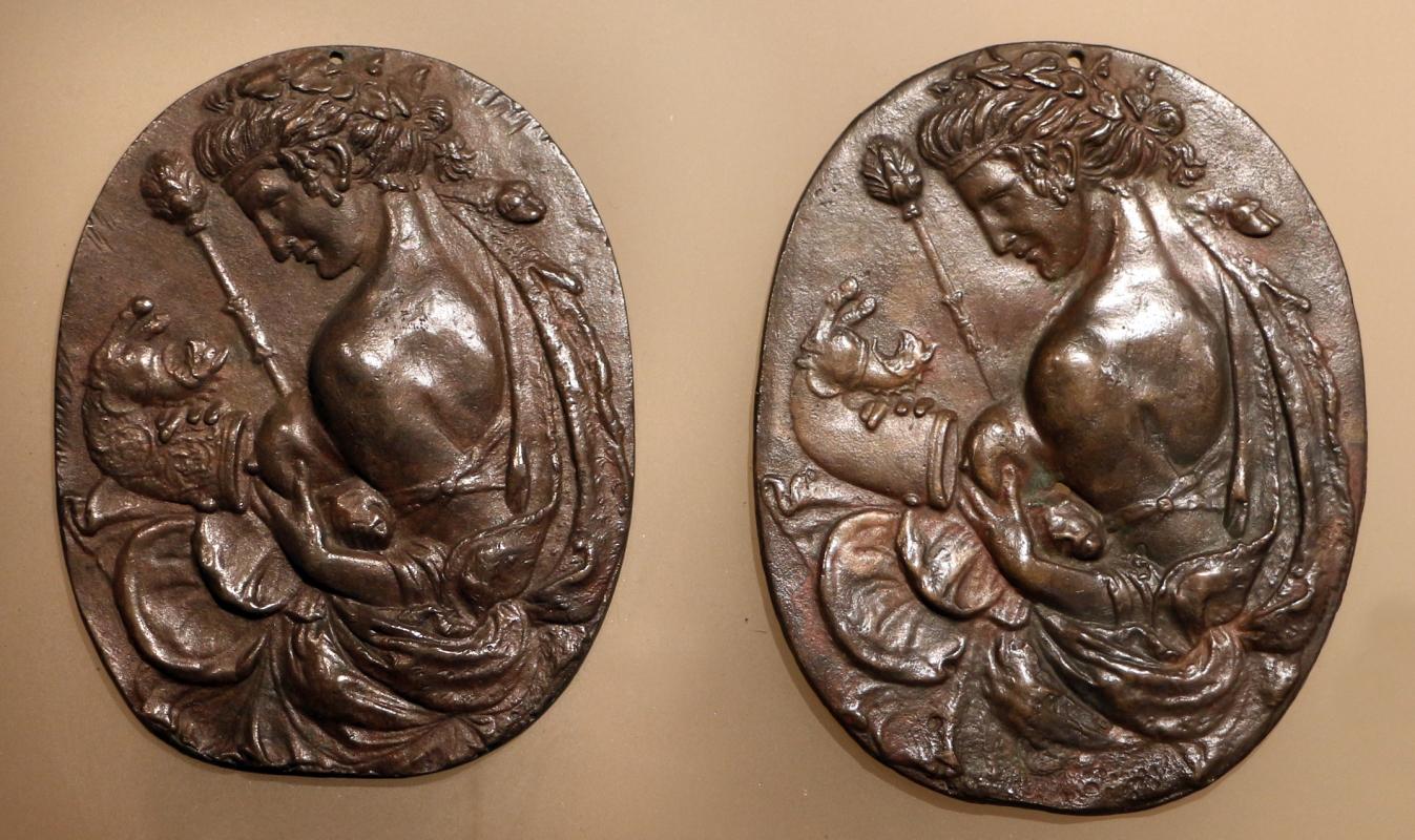 Scuola mantovana, due placchette con baccante, 1475-1500 ca - Sailko - Ravenna (RA)