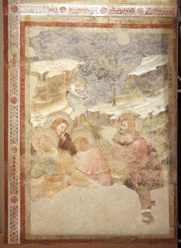 Pietro da rimini e bottega, affreschi dalla chiesa di s. chiara a ravenna, 1310-20 ca., orazione nell'orto - Sailko - Ravenna (RA)