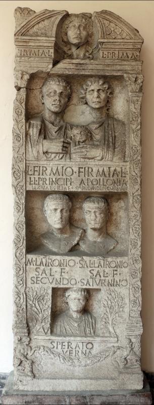 Stele funeraria a pseudoedicola, 50 dc ca, da palazzo rasponi - Sailko - Ravenna (RA)