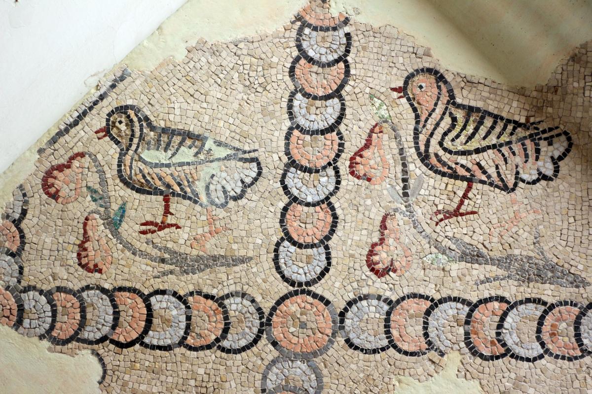 Mosaici pavimentali da san severo a classe, 590 dc ca. 04 uccelli - Sailko - Ravenna (RA)