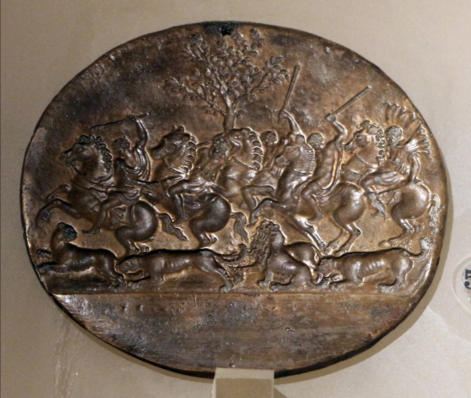 Valerio belli, caccia al leone, matrice - Sailko - Ravenna (RA)
