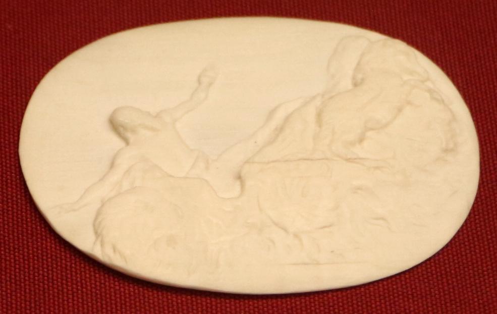 Francia (attr.), lastrina con la caduta di fetonte, avorio, xviii secolo - Sailko - Ravenna (RA)