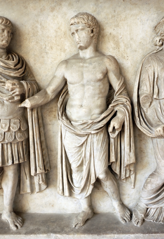 Rilievo di altare monumentale con processione sacrficale (personaggi della gens claudia), 42-43 dc, dalla zona di s. vitale-mausoleo di galla placidia 03 - Sailko - Ravenna (RA)