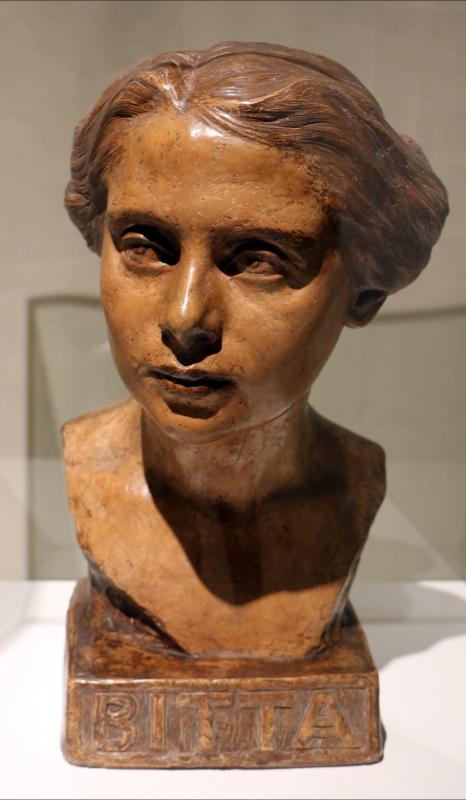 Domenico beccarini, ritratto di donna (la bitta), 1903-04, terracotta - Sailko - Ravenna (RA)