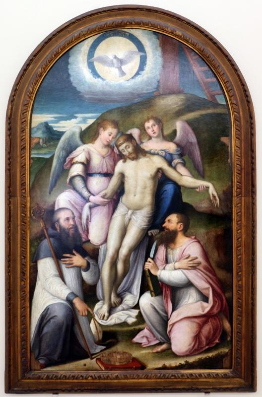 Luca longhi, cristo morto sorretto dagli angeli tra s. bartolomeo e l'abate di classe - Sailko - Ravenna (RA)