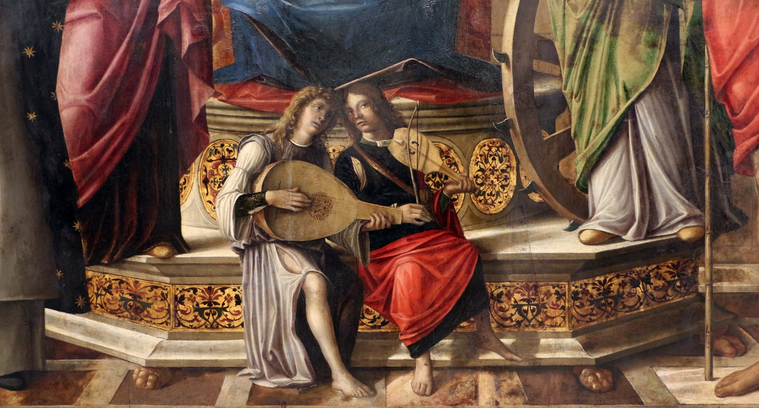 Niccolò rondinelli, madonna col bambino in trono fra santi, 1470-1510 ca. 02 - Sailko - Ravenna (RA)