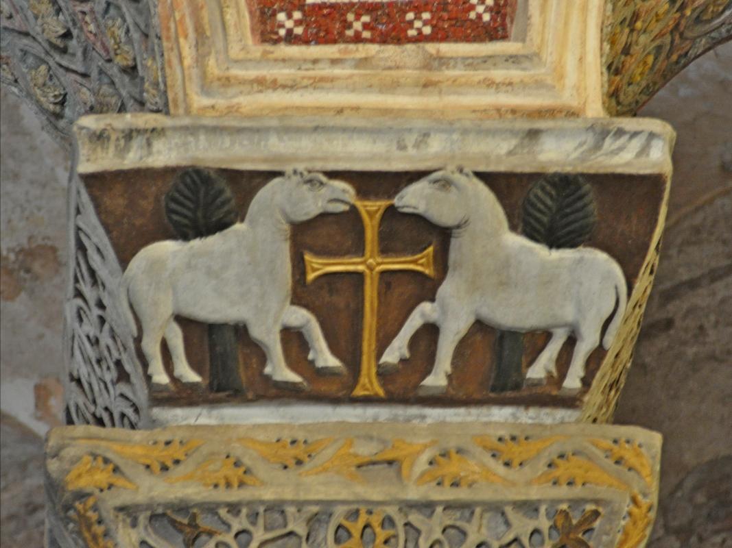 SanVitale capitel caballos - Hispalois - Ravenna (RA)