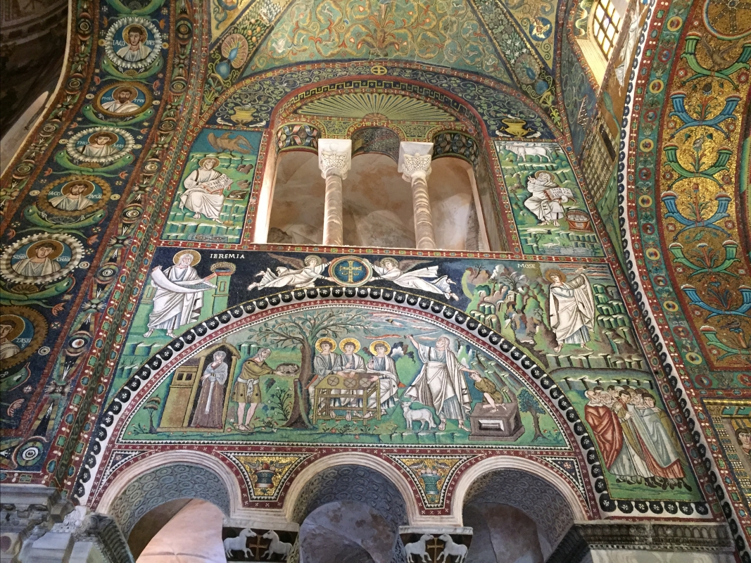 SanVitale mosaicos sacrificio Abraham Jacob - Hispalois - Ravenna (RA)