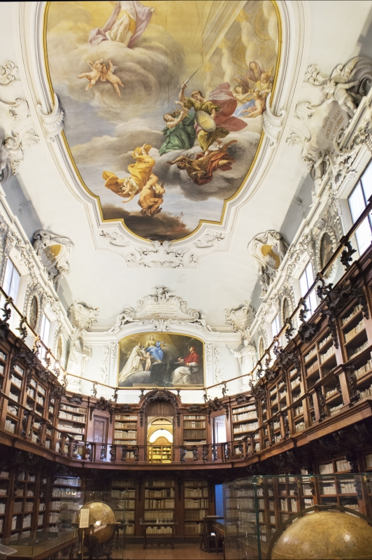 Aula magna con affresco soffitto - Domenico Bressan - Ravenna (RA)