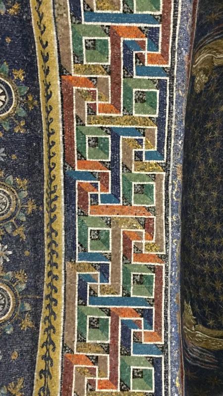 GallaPlacidia mosaico motivos geometricos arco - Hispalois - Ravenna (RA)