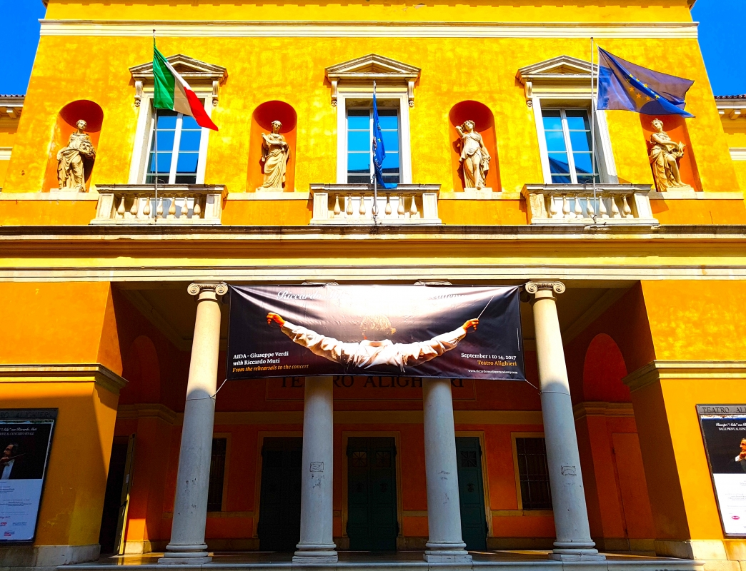 Teatro Dante Alighieri facciata orizzontale - Opi1010 - Ravenna (RA)