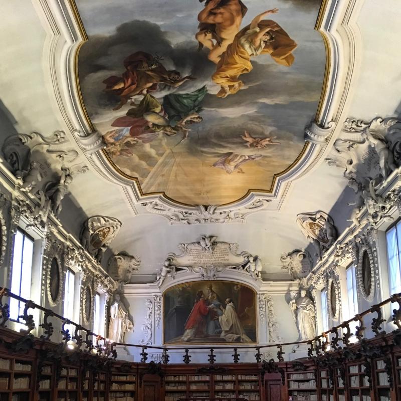 Soffitto della biblioteca Classense - Dsaibene - Ravenna (RA)
