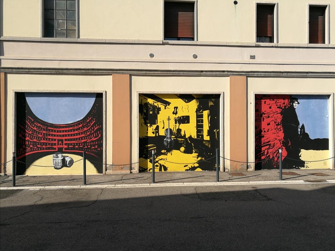 Custode Marcucci, dipinti di arte urbana dedicati al liutaio di Sant'Agata sul Santerno 2 - Enea Emiliani - Sant'Agata sul Santerno (RA)