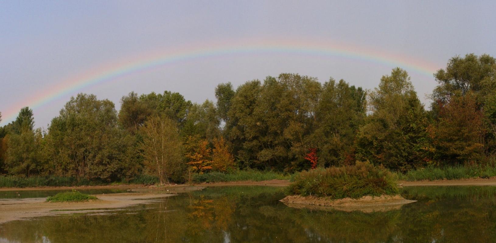 Arcobaleno dal capanno 3 - Giandobert - Reggio nell'Emilia (RE)