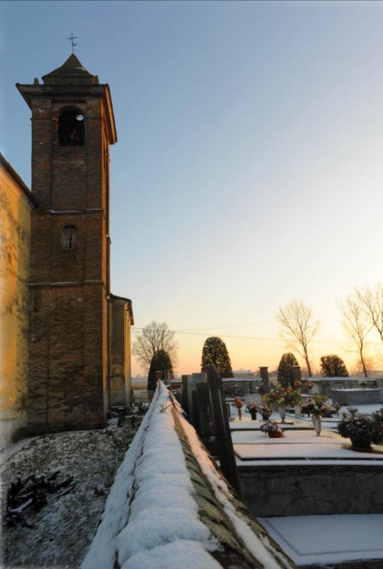 Campanile Chiesa di San Bartolomeo e cimitero - Matteo Colla - Poviglio (RE)