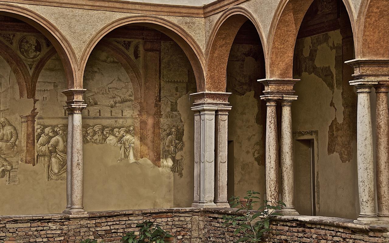Affreschi nel porticato dei Chiostri di San Pietro - Caba2011 - Reggio nell'Emilia (RE)
