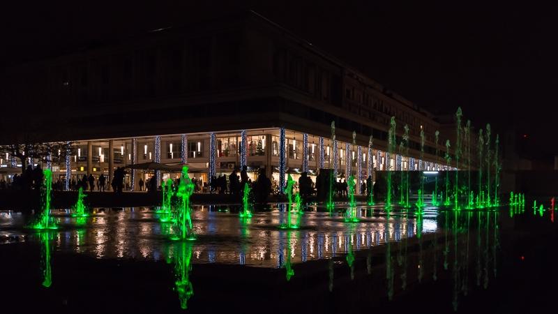 Piazza Martiri 7 luglio in notturna - Andrea Incerti - Reggio nell'Emilia (RE)