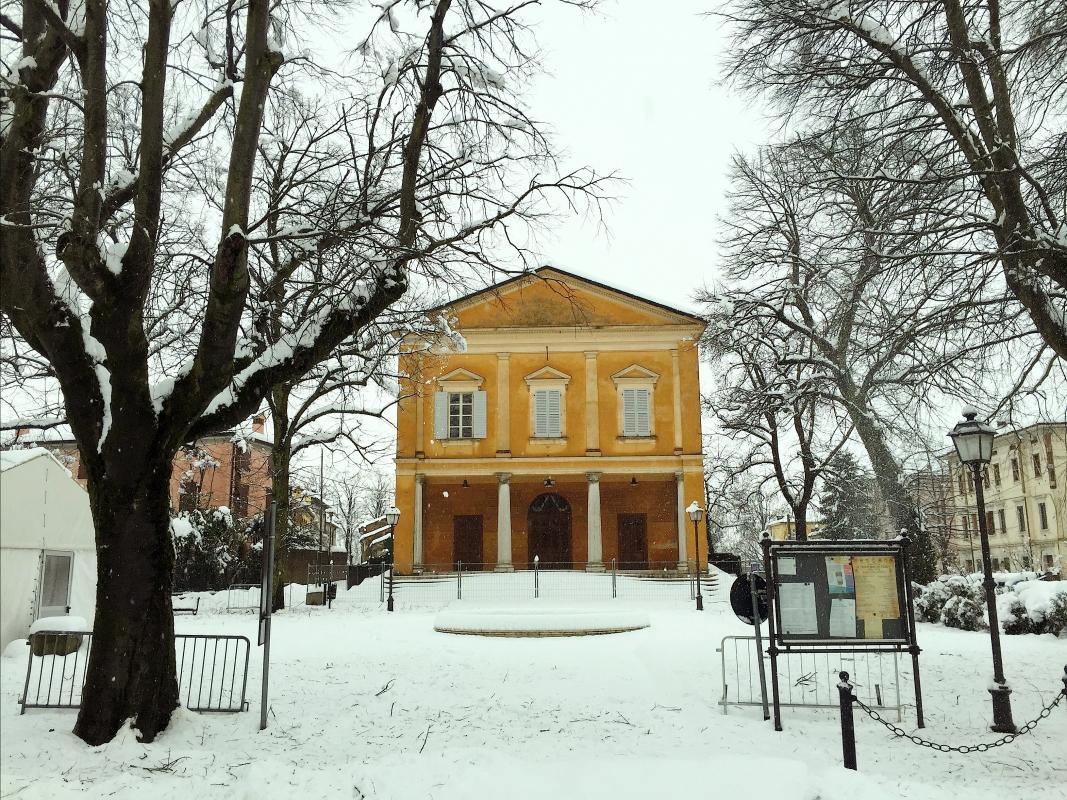 Nella neve il teatro - Lasagni-stefano - Reggiolo (RE)