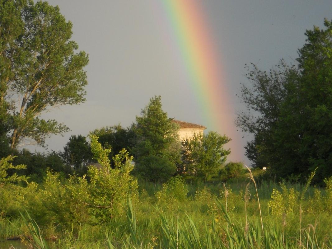 Arcobaleno sulla Chiavica Vecchia (Cà dal vigliach) - Claudio Magnani - Reggiolo (RE)