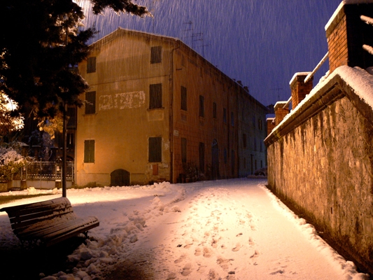 Neve sul castello - Isaeugeniazeta - San Polo d'Enza (RE)