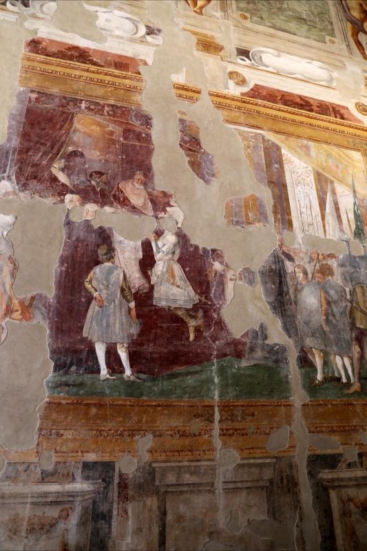 Giovanni da san giovanni (e ippolito provenzale), fasti bentivoglio, Investitura di Cornelio Bentivoglio a generalissimo di Gregorio XIII, 1628, 08 - Sailko - Gualtieri (RE)