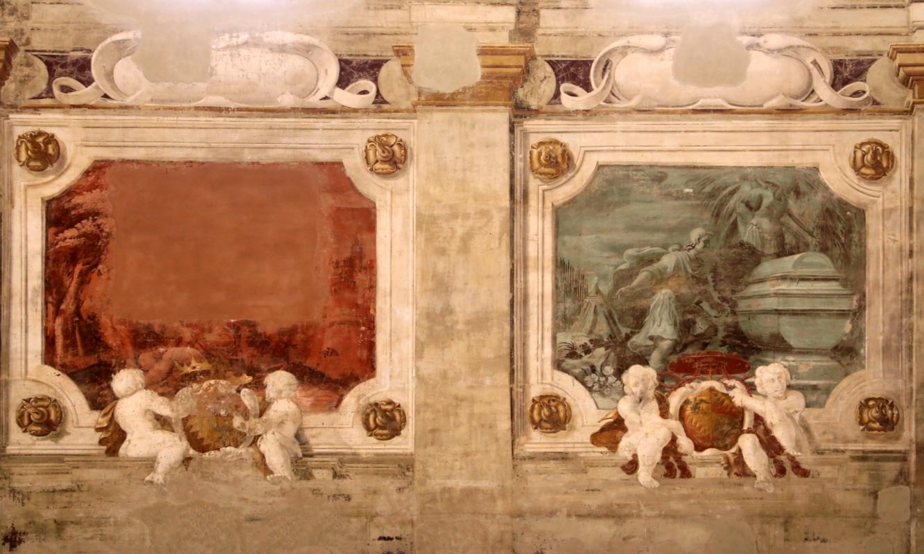 Pier francesco battistelli e aiuti, affreschi con scene dell'orlando furioso e della gerusalemme l. tra telamoni, 1619-28, 19 - Sailko - Gualtieri (RE)