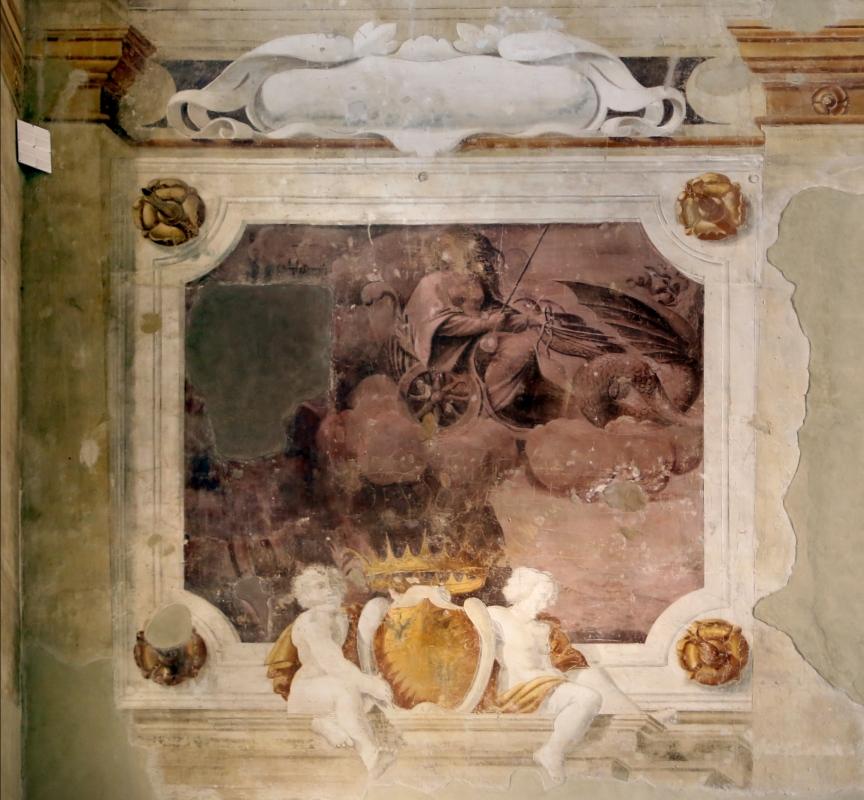 Pier francesco battistelli e aiuti, affreschi con scene dell'orlando furioso e della gerusalemme l. tra telamoni, 1619-28, 10 - Sailko - Gualtieri (RE)