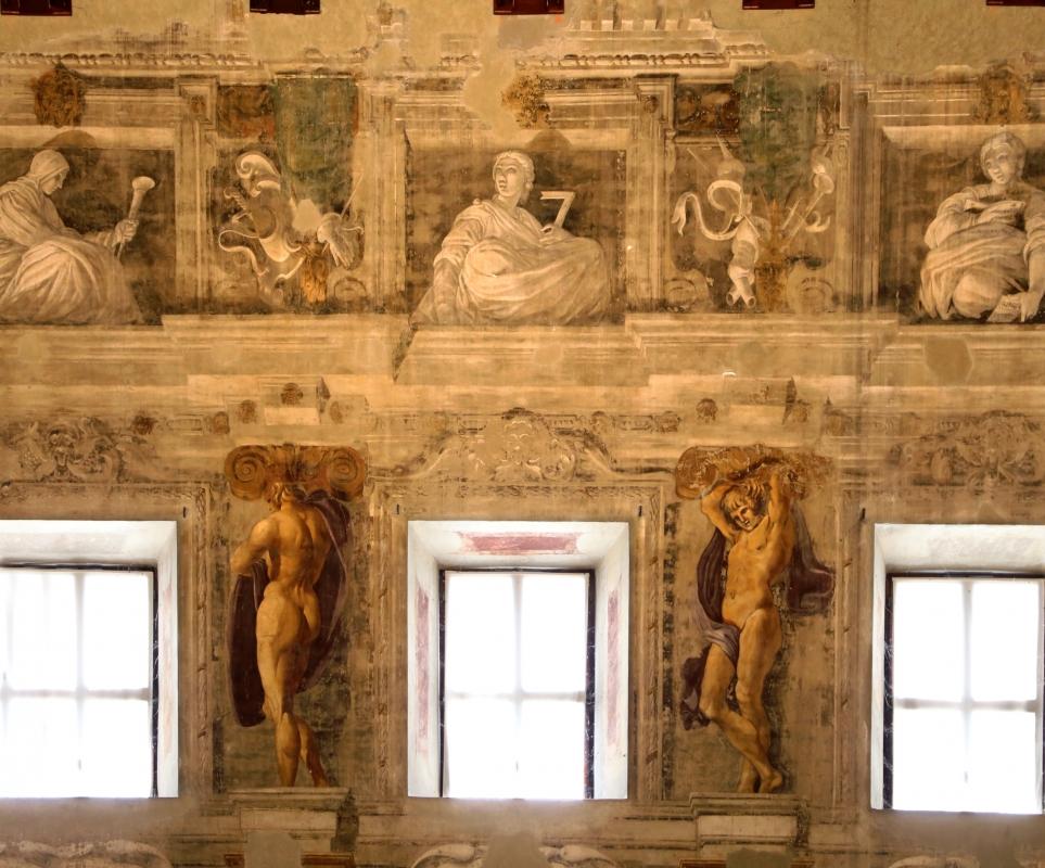 Pier francesco battistelli e aiuti, affreschi con scene dell'orlando furioso e della gerusalemme l. tra telamoni, 1619-28, 20 - Sailko - Gualtieri (RE)