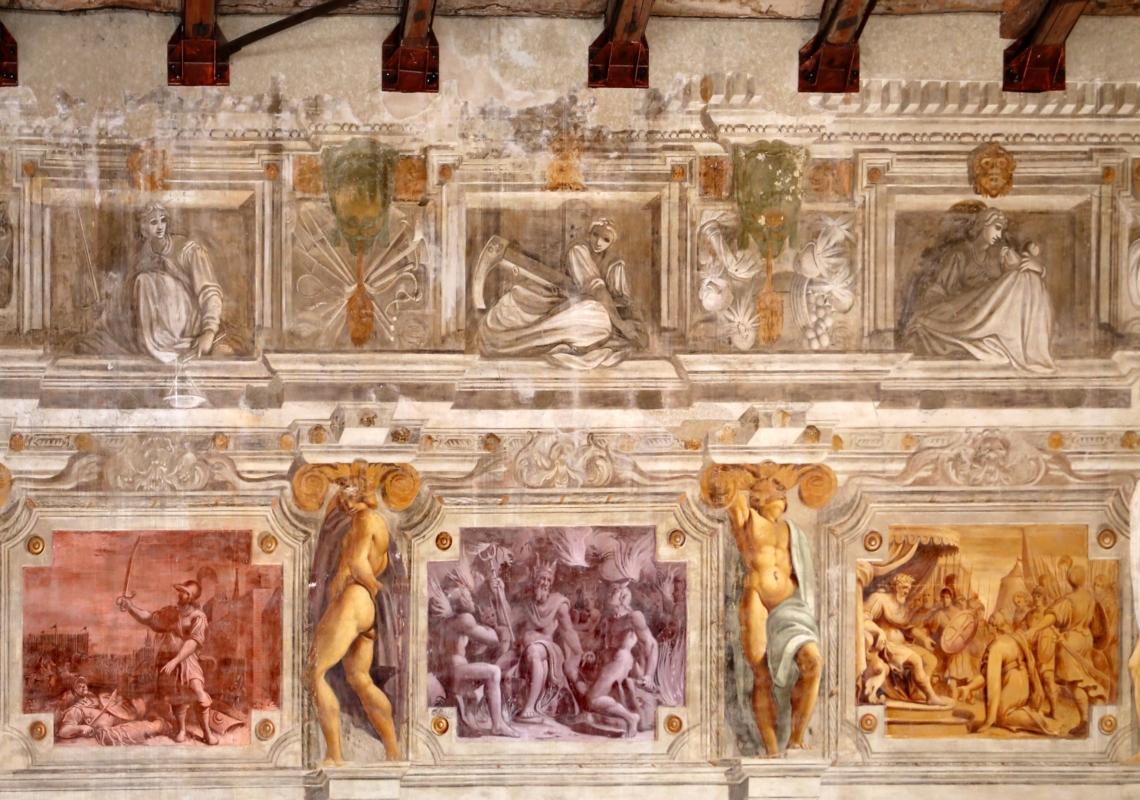 Pier francesco battistelli e aiuti, affreschi con scene dell'orlando furioso e della gerusalemme l. tra telamoni, 1619-28, 03 - Sailko - Gualtieri (RE)