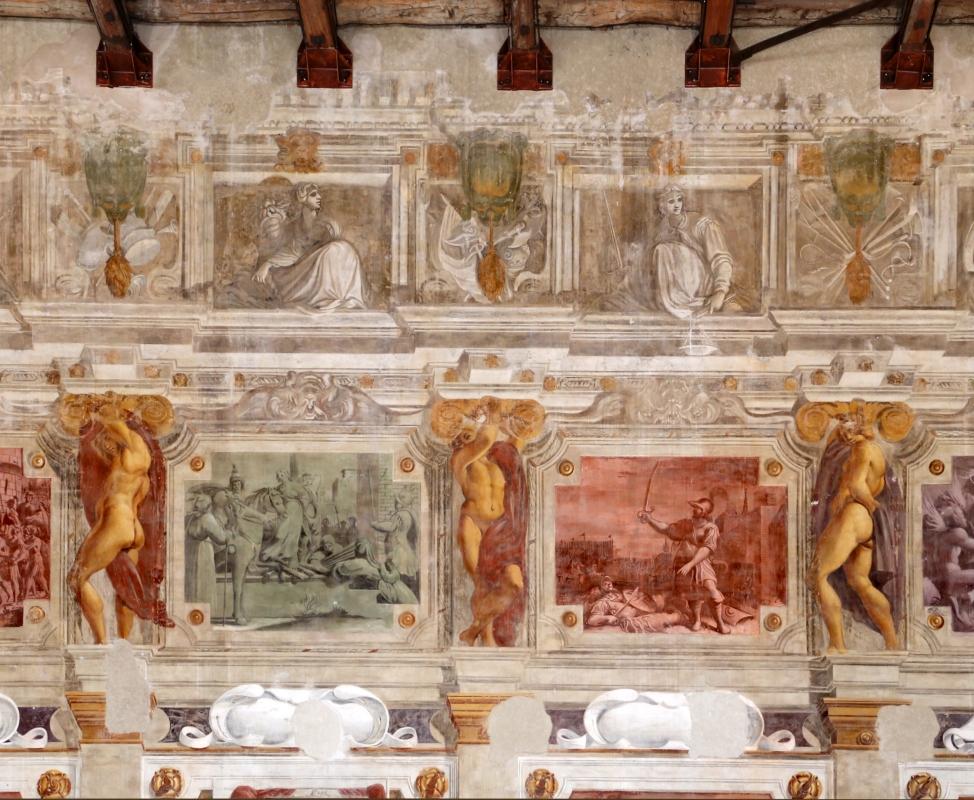 Pier francesco battistelli e aiuti, affreschi con scene dell'orlando furioso e della gerusalemme l. tra telamoni, 1619-28, 05 - Sailko - Gualtieri (RE)