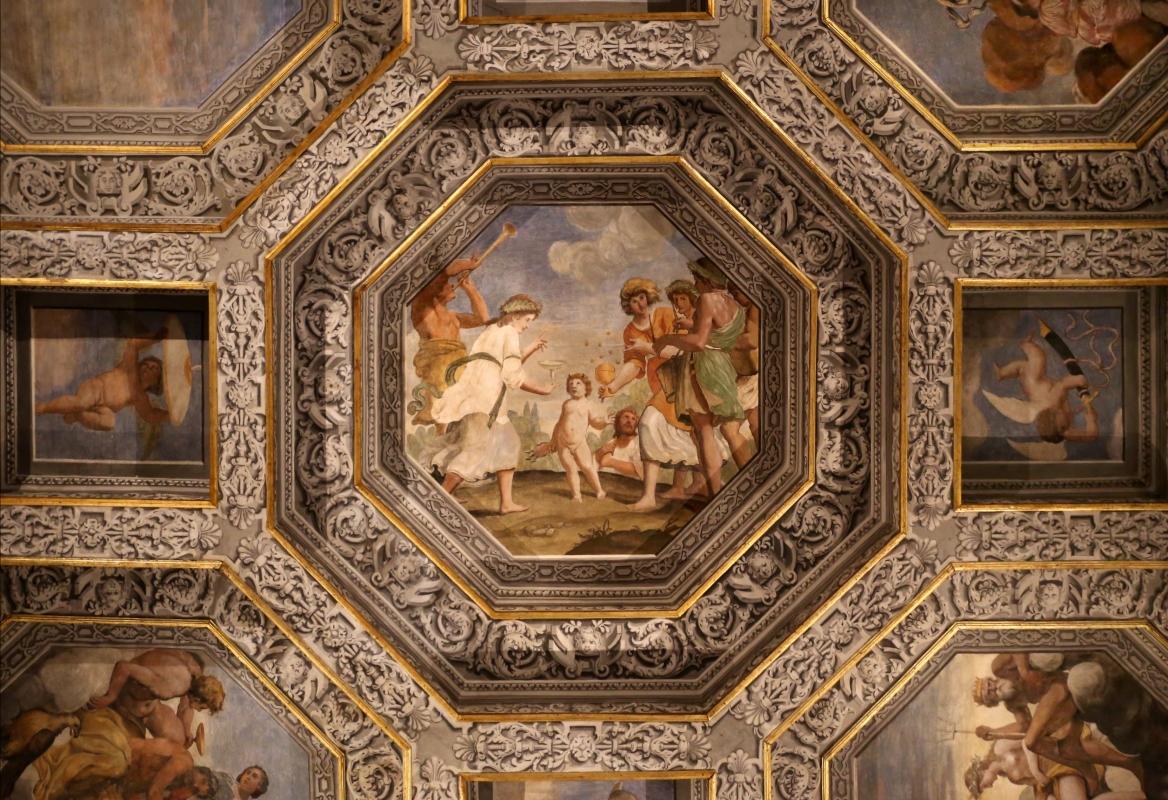 Sisto badalocchio e altri, soffitto della sala di giove, 1603, 06 educazione di giove - Sailko - Gualtieri (RE)