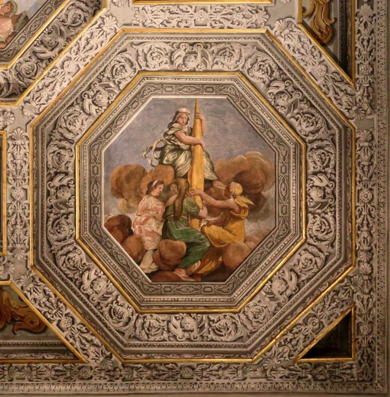 Sisto badalocchio e altri, soffitto della sala di giove, 1603, 09 la necessità col fuso delle parche - Sailko - Gualtieri (RE)