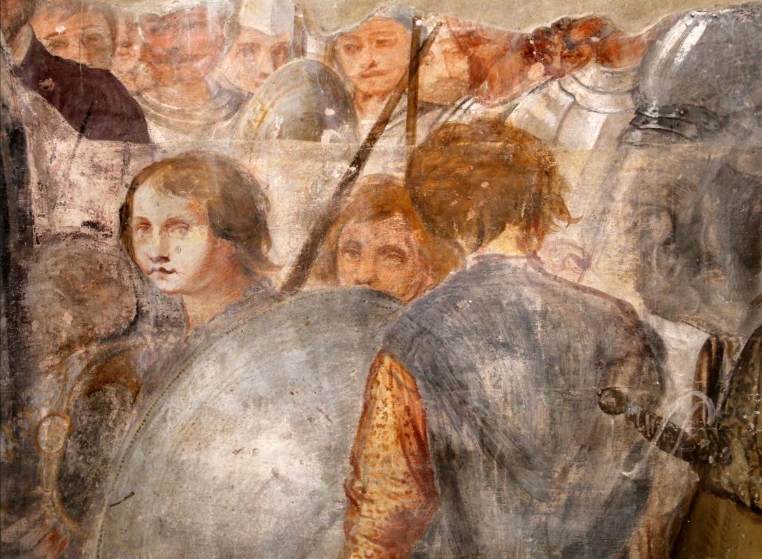 Giovanni da san giovanni (e ippolito provenzale), fasti bentivoglio, Investitura di Cornelio Bentivoglio a generalissimo di Gregorio XIII, 1628, 12 - Sailko - Gualtieri (RE)
