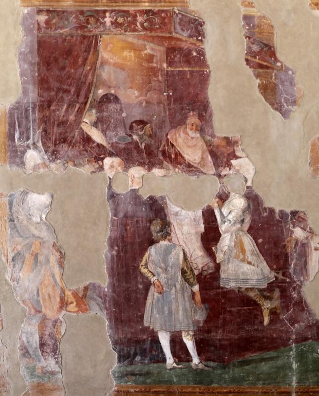 Giovanni da san giovanni (e ippolito provenzale), fasti bentivoglio, Investitura di Cornelio Bentivoglio a generalissimo di Gregorio XIII, 1628, 10 - Sailko - Gualtieri (RE)