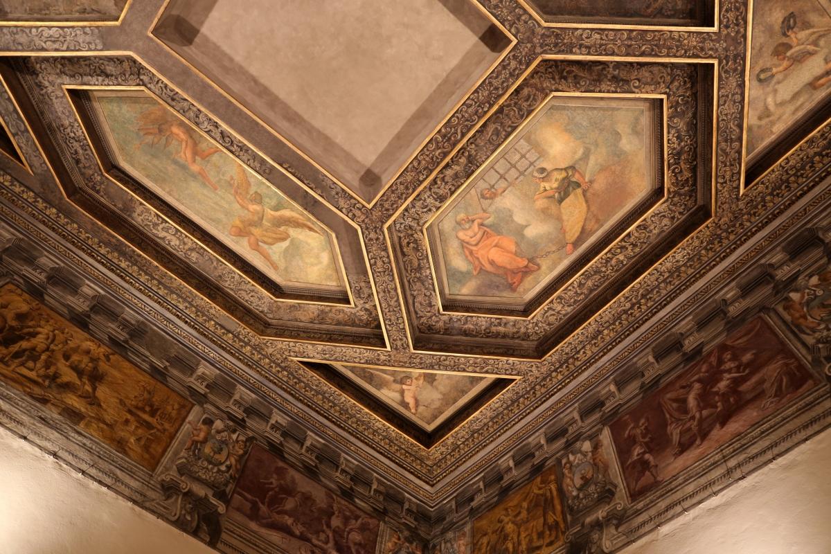 Gualtieri, palazzo bentivoglio, sala di icaro, fregio con storie di roma da tito livio, 1600-05 circa, 05 caduta di icaro e carità romana - Sailko - Gualtieri (RE)