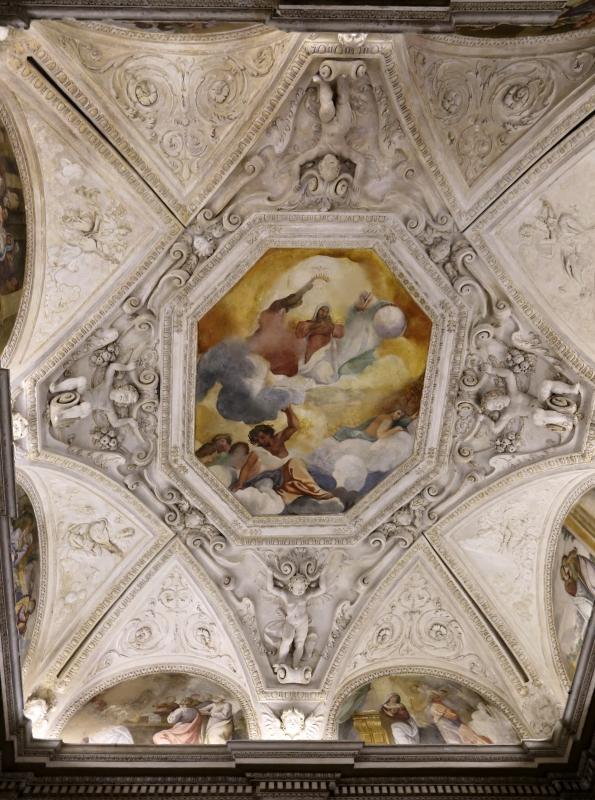 Gualtieri, palazzo bentivoglio, cappella, storie della vergine di scuola emiliana del 1605, 00 assunta - Sailko - Gualtieri (RE)