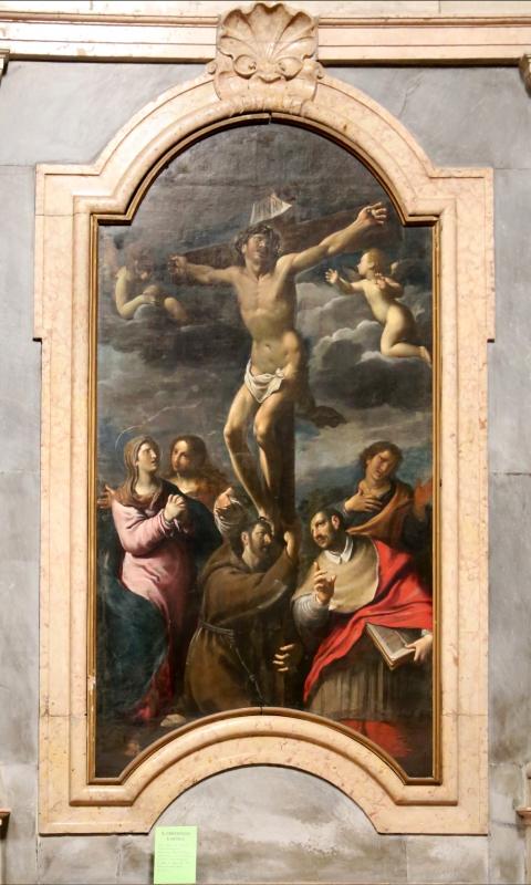 Camillo ricci, crcifissione e angeli, 1600-50 ca - Sailko - Gualtieri (RE)