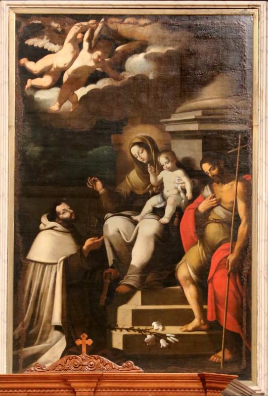 Scuola emiliana influenzata da ludovico carracci, madonna del carmine coi ss. simone stock e giovanni battista - Sailko - Gualtieri (RE)