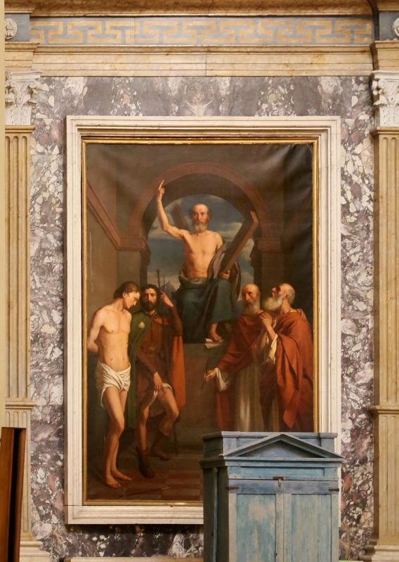 Carlo zatti, sant'andrea tra santi, 1844 - altare - Sailko - Gualtieri (RE)