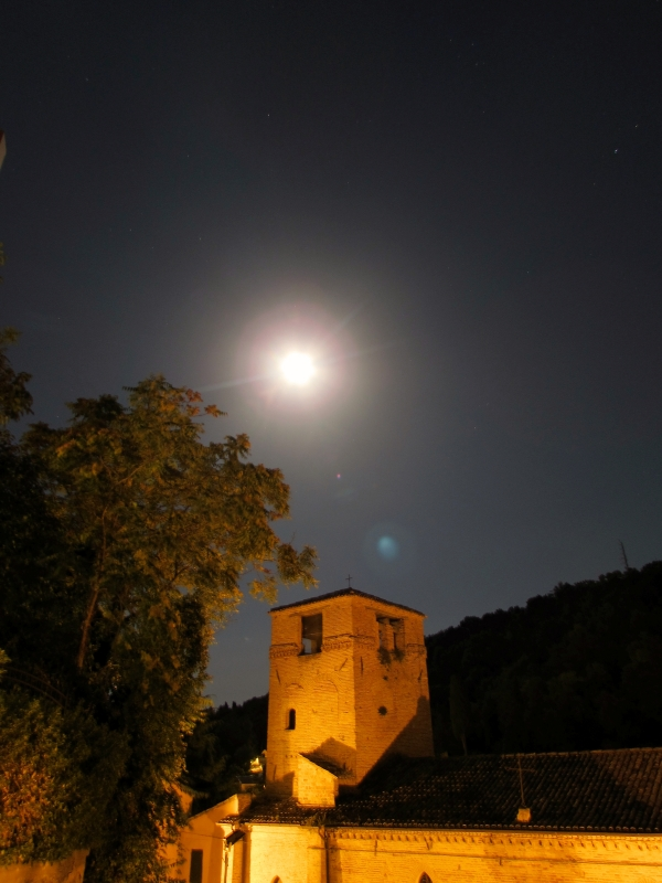 Chiesa di San Paolo illuminata dalla Luna - LaraLally19 - Montefiore Conca (RN)