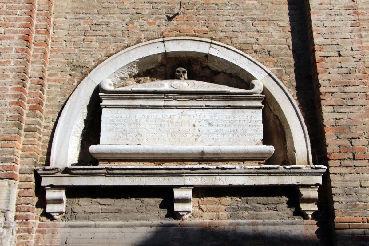 Sant'agostino (o san giovanni evangelista), rimini 03 tomba ad arcosolio - Sailko - Rimini (RN)